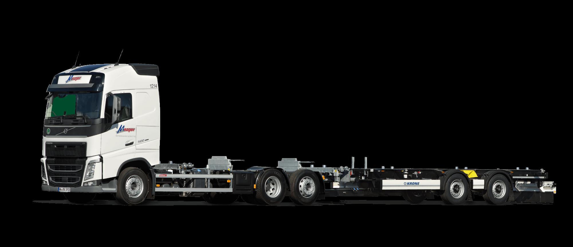 Wechselbrückenfahrzeug Euro 6 Globetrotter mit Zentralachsanhänger